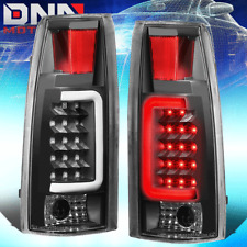 BLACK LENS RED 3D LED TAIL BRAKE LIGHTS FOR 88-00 CHEVY/GMC C/K 1500/2500/3500