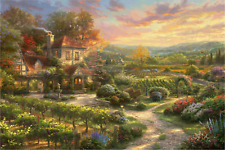 Thomas Kinkade Wine Country Living Rolled Canvas Artist's Proof, 24 x 36
