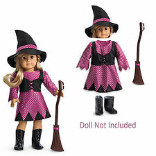 "American Girl MY AG WITCH COSTUME for 18"" Dolls Charm Hat Halloween Retired NEW"