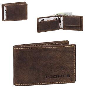 J.Jones kleine Herren Geldbörse Leder Geldbeutel Portemonnaie Minibörse 5493