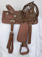 "USED 15"" KING SERIES KRYPTON BROWN WESTERN PLEASURE TRAIL SYNTHETIC HORSE SADDLE"