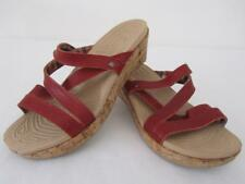 Authentic CROCS  LEATHER Uppers Slip On Sandal SHOES Size 6 Womens