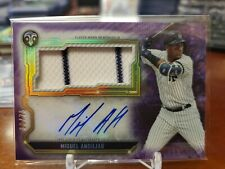 2020 Topps Triple Threads Game Jersey Auto Miguel Andujar 30/75 Yankees Purple
