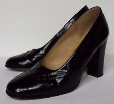 Ravel  6 / 39 Black patent leather Brogues High Block heel Court Round toe