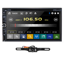 """Sony Lens Double 2 Din 7"""" In Dash Stereo Car DVD Player BT Radio iPod SD/USB+Cam"""