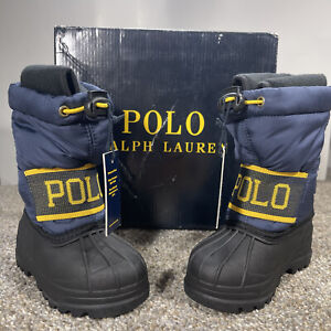 Ralph Lauren Polo New In Box Toddler Winter Boots Lined 5T Waterproof -20C -4F