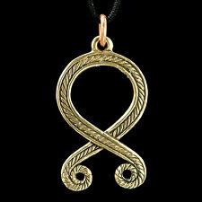 TROLL CROSS Odal Rune Pendant Bronze Othila Othala Viking Vikings Jewelry Charm
