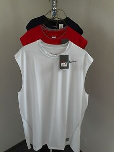 Nike Pro Competition Dri Fit Fitted Base Layer-Wht/Red/Blue-SL,SS,LS