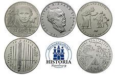 Deutschland 5 x 10 Euro 2014 bfr. Komplettserie aller 5 Münzen in Münzkapseln