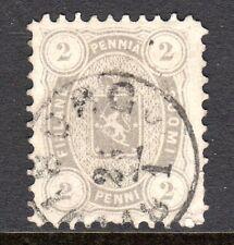 Finland - 1875 Def. Coat of Arms Mi. 12Ayb FU (Perf. 11, some short perfs) b