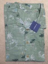 Croft & Barrow Men's PalmTree Button Down Cotton Shirt - Size 4XB - NEW