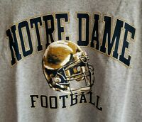 NEW Notre Dame Football T-Shirt Adidas Gray Crew Neck Short Sleeves Size XL
