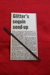 GARY GLITTER 1973 VINTAGE GIG CONCERT REVIEW CLIPPING RAINBOW THEATRE LONDON