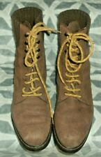 vintage Bally Brown Suede Leather Lace up Boots EU 41 UK 8