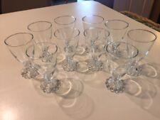 "SET/10 VINTAGE ANCHOR HOCKING BOOPIE CLEAR GLASS JUICE WINE GOBLETS 4 1/2"""