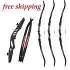 Archery Recurve Bow Takedown Hunting Game Practice Target 20lbs for Beginner