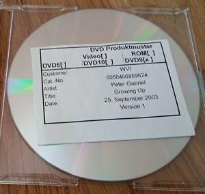 PETER GABRIEL - VERSION 1 OF GROWING UP DVD LIVE VERY RARE WARNER 2003