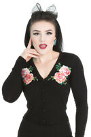 Hearts & Roses Women Rockabilly Vintage 50s Embroidery Ladies Pinup Cardigan UK