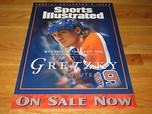 WAYNE GRETZKY No. 99 EDMONTON OILERS PROMO Sports Illustrated Display Poster