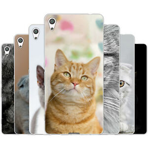 Dessana Cats TPU Silicone Protective Case Pouch Cover For sony