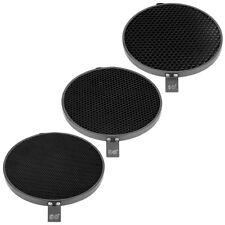 "Phot-R 3x 7"" 10° 30° 50° Degree Honeycomb Grid Eggcrate Set 18cm Reflector Dish"