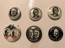 Lot of 9 Campaign Political Presidential Buttons, 6 are Kleenex Tissues '68