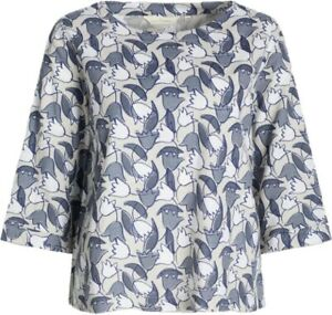 SEASALT Womens TREGARTHEN Cotton Top Shirt Blouse Casual Scattered Tulip 8 - 18