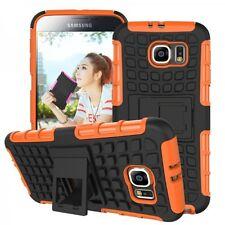 housse étui de protection accessoire orange pour Samsung Galaxy S6 G920 G920F