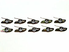 """Chrylser Dodge Plymouth 3/4""""-1 5/8 """" Trim Moulding Molding Clips & Nuts 10pcs B"""
