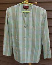 Woman's Green Print Blazer by Sasson; Size:  10