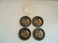 "Vintage Set Of 4 California Themed Metal Coasters,3,"" NOS "",1,Used ? "" BEAUTIFUL"