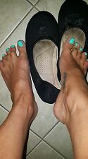 Black Ballet slippers Shoes Extremely Well Worn womans Sz Large