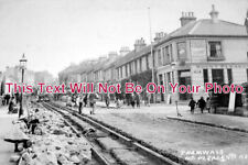 SX 380 - Laying Tramways, Mount Pleasant Road, Hastings, Sussex c1906 6x4 Photo