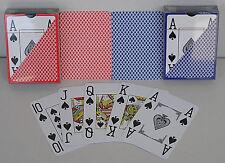 2 x Premium Poker Karten Jumbo Index 4 Pips Pokerkarten 100% Plastik Spielkarten