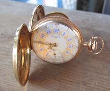 14kt Gold Hunters Case 1898 Elgin Lady's Pocket Watch 5-0 size 7J