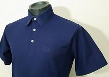 Vintage 70's Munsingwear Penguin Golf Polo Shirt Navy Blue Pocket Men's Size M
