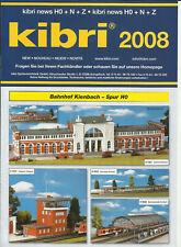 Katalog Kibri Neuheiten 2008 Modellbausätze Gebäude + Zubehör in HO 1:87