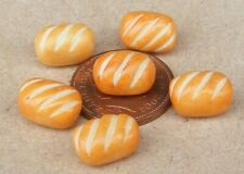 1; 12 Maßstab Sechs Brötchen Puppenhaus Miniatur Küche Brot Bäckerei Zubehör