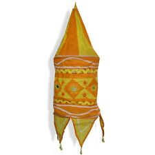 Lampe Hängelampe Stofflampe Lampion Lampenschirm aus Baumwolle  m Indien
