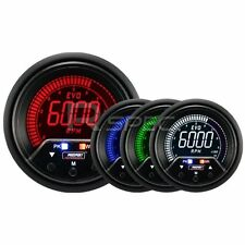 Prosport Evo 60mm LCD RPM Tacho 10000RPM Gauge 4 colour with peak and warning