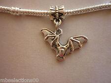 1 x Bat Animal Tibetan Silver Pendant Charm suit European Bracelet Necklace DIY