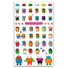 CUTE ROBOT STICKERS Sheet Craft Kids Children Craft Scrapbook Raised Sticker