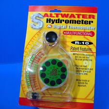 saltwater Hydrometer & Digital Thermometer aquarium NEW