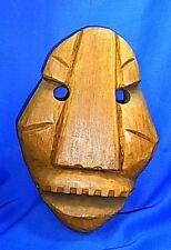 Vintage German Wood Carved Wall Mask #BT