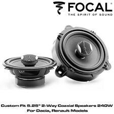 "Focal IC REN130 - Custom Fit 5.25"" 2-Way Coaxial Speakers 240W for Dacia Renault"