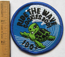 Girl Scout 2001 COOKIE SALE PATCH - 100+ BOXES SOLD Ride The Wave Turtle NEW