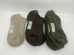 7 pr Women's No Show Cotton/Bamboo Socks - Low Cut - Green, Brown, Oatmeal  9-11