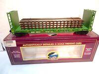 MTH Premier #20-98765 BNSF Bulk-head Flat Car with 4 Scaletrax Sections-ln w box