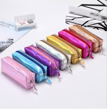 Laser Pencil Pen Case Cosmetic Makeup Bag Storage Pouch Purse Stationery New