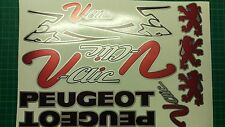 Peugeot V-Clic Vclic VClick Decals/Stickers Pug Scooter Red/black/silver